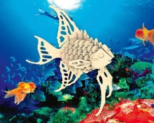 купить Сборная деревянная модель Рыба  (3D пазл) цена, отзывы