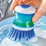 фото 3894  Щетка для мытья посуды с дозатором цена, отзывы