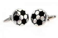 фото 6855  Запонки Футбольный мяч white цена, отзывы