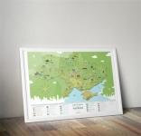 фото 8964  Скретч-карта Украины Моя Україна цена, отзывы