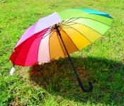 фото 8827  Зонт трость Радуга 16 спиц цена, отзывы