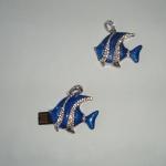 фото 4548  Флешка 8 Gb металл со стразами Рыбка Скалярия цена, отзывы
