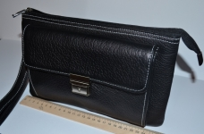 фото 1520  Барсетка кожаная мужская Black 111 цена, отзывы