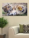 фото 2647  Часы на холсте Тигр 25х50 цена, отзывы