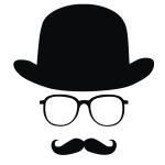 фото 3518  Наклейка Шляпа-очки-усы бол цена, отзывы