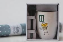 фото 6574  Чашка+ложка Lemon цена, отзывы