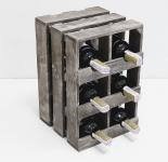 фото 7081  Подставка для вина ящик на 6 бутылок модульный вертикальный цена, отзывы