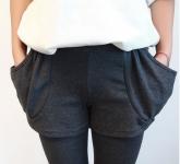 фото 4306  Леггинсы утепленные с декоративными карманами черные цена, отзывы