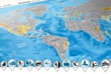фото 10233  Скретч карта Discovery Maps World на украинском языке с авоськой цена, отзывы