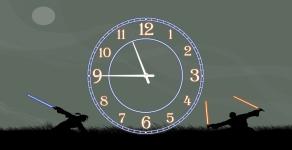 купить Часы на холсте Джедай 25х50 цена, отзывы