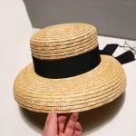 фото 26351  Соломенная шляпа с широкими полями и лентой (Черный) цена, отзывы
