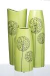 фото 10032  Декоративная ваза Деревья зеленая цена, отзывы