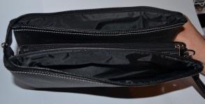 фото 1523  Барсетка кожаная мужская Black 111 цена, отзывы