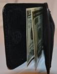 фото 1565  Зажим для денег с кармашеком для мелочи натуральная кожа №2 цена, отзывы