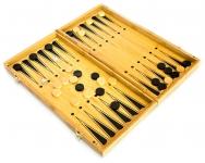 фото 4015  Нарды+шахматы из бамбука 35см доска цена, отзывы