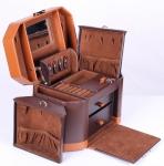 фото 6879  Шкатулка для украшений коричневая изящная цена, отзывы