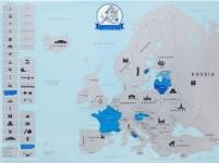 фото 22998  Скретч карта Европы  цена, отзывы