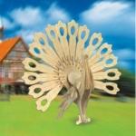 фото 2849  Сборная деревянная модель Павлин(3D пазл) цена, отзывы