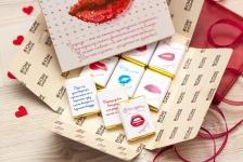 фото 6563  Шоколадная плитка Первый поцелуй цена, отзывы