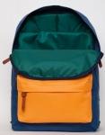 фото 8090  Рюкзак GiN Bronx неви с оранжевым карманом цена, отзывы