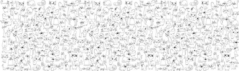 купить Обои раскраска - Веселые котята 2.0х0.6м цена, отзывы
