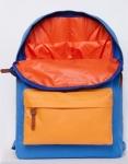 фото 8081  Рюкзак GiN Bronx голубой с оранжевым карманом цена, отзывы