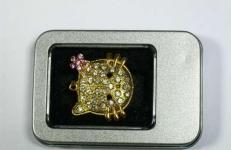 фото 3208  Флешка 8gb металл со стразами Китти цена, отзывы