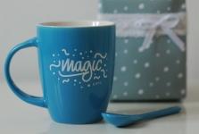 фото 6576  Чашка+ложка Magic цена, отзывы