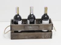 фото 7072  Подставка для вина ящик на 3 бутылки цена, отзывы