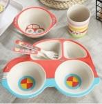 фото 25552  Детская бамбуковая посуда 5 в 1 Машинка цена, отзывы