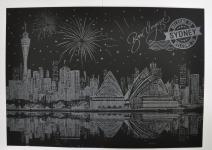 фото 9817  Скретч картина Сидней ночью цена, отзывы