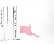 фото 10059  Держатель для книг Бегущий заяц розовый цена, отзывы