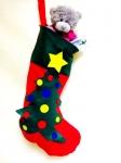 фото 3048  Рождественский носок с апликацией цена, отзывы