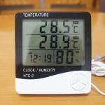 фото 15779  Цифровой термометр, часы, гигрометр с проводдом цена, отзывы