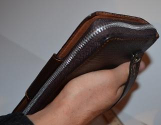 купить Кожаный клатч мужской ручной m010 цена, отзывы