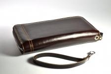 фото 4223  Кошелек клатч коричневый цена, отзывы