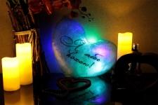 фото 7143  Светящаяся Подушка Сердце Я тебе кохаю цена, отзывы