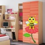 фото 5841  Наклейка Детская Bee on a Flower цена, отзывы