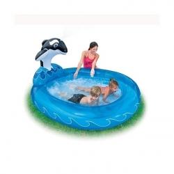 купить Детский бассейн с фонтанчиком Дельфин (Intex) цена, отзывы