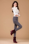 фото 4298  Леггинсы утепленные с шортами серые цена, отзывы