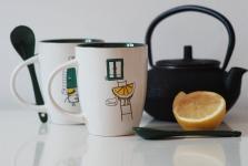 фото 6575  Чашка+ложка Lemon цена, отзывы