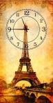 купить Часы на холсте Париж 25х50 цена, отзывы