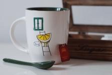 фото 6573  Чашка+ложка Lemon цена, отзывы