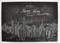 фото 9819  Скретч плакат Гонконг ночью цена, отзывы