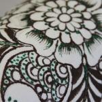 фото 8928  Кот Мартовский с росписью цветы цена, отзывы