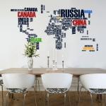 фото 5774  Интерьерная Наклейка World Map цена, отзывы