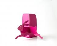 фото 10099  Держатель для книг Бегущий заяц темно-розовый цена, отзывы