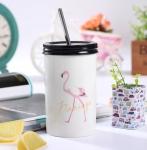 фото 25706  Стакан с трубочкой Розовый Фламинго цена, отзывы