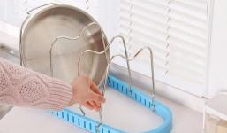 фото 25780  Подставка для сковородок, крышек, тарелок, кастрюль (Голубой) цена, отзывы