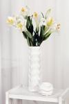 фото 9959  Ваза глянцевая Волна белая 36 см цена, отзывы